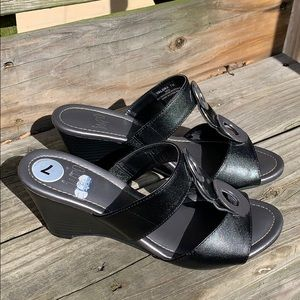 Impo Shoes - Impo size 7 silver and black wedge sandals